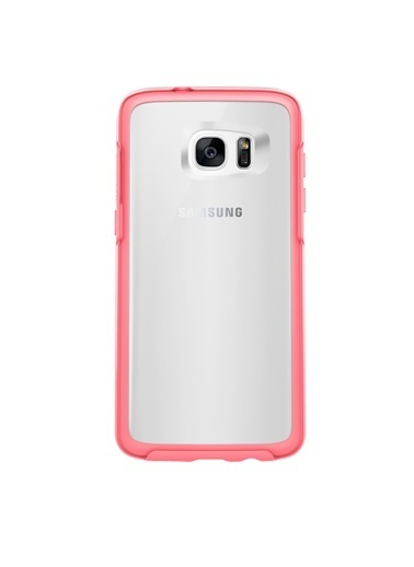 OtterBox Symmetry Clear Galaxy S7 Edge Kılıf Tempest Blue Crystal Pembe